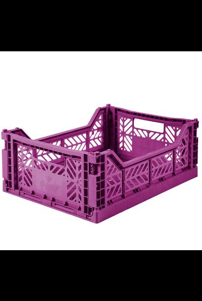 Folding Crate Purple - Medium