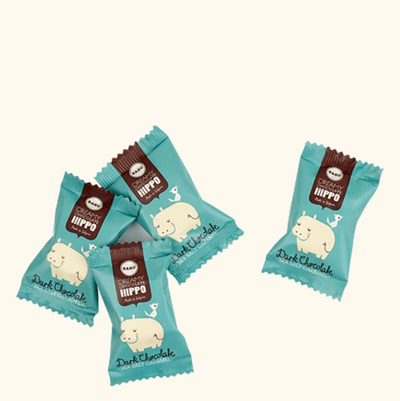 Dreamy Chocolate Hippos - Dark Chocolate & Sea Salt Caramel - Baru-2