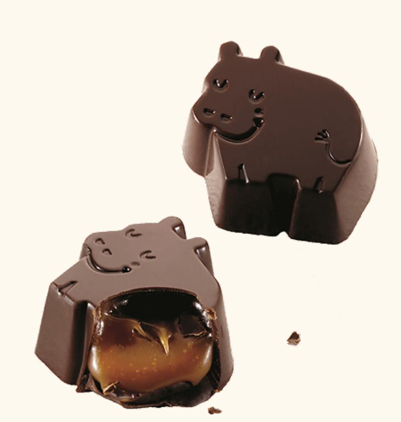 Dreamy Chocolate Hippos - Dark Chocolate & Sea Salt Caramel - Baru-3