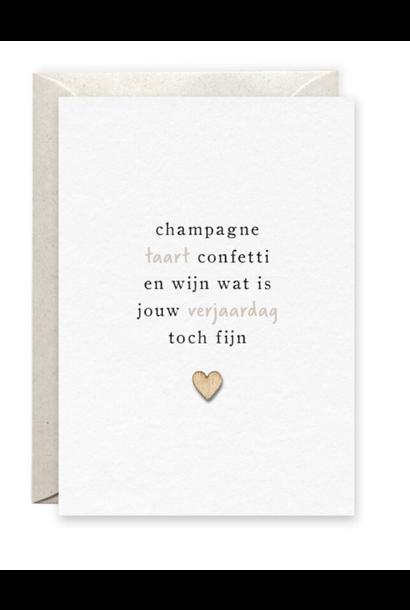 Kaartje 'Champagne'