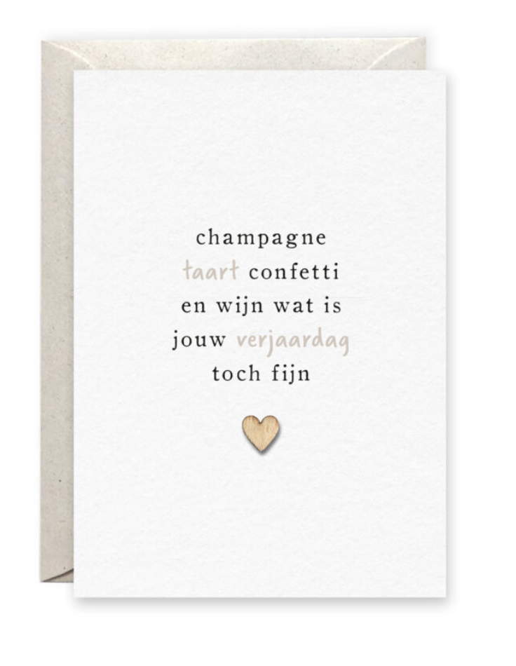 Kaartje 'Champagne' - Pinkpeach-2