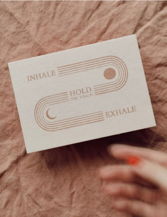 Kaartje Inhale Hold Exhale - Anna Cosma-1