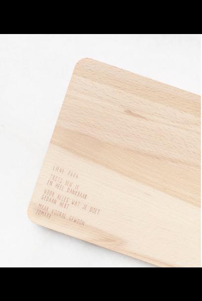 Houten serveerplankje – Lieve papa