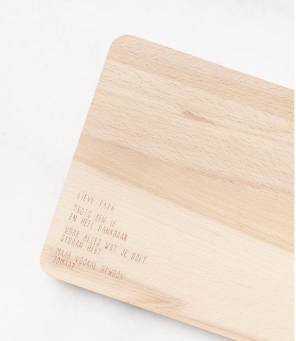Houten serveerplankje – Lieve papa - Gewoon Jip-1