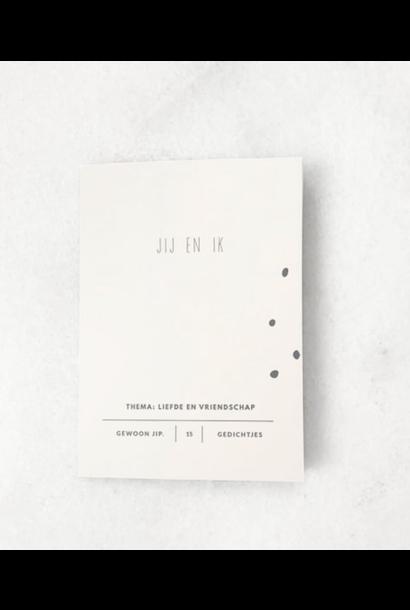 Boekje met 15 uitscheurbare kaarten – Jij en ik