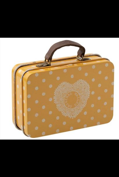 Koffertje Geel Dots