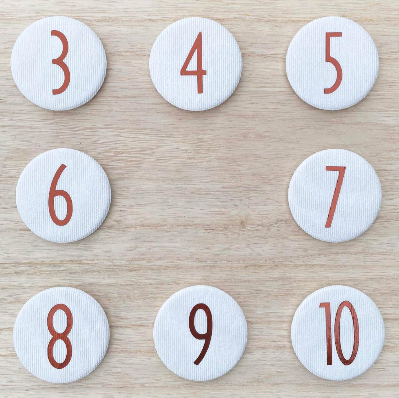 Set Cijferknopen nr 7- 10 Koper - Liezelijn-1