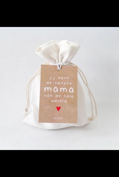 Wenskaars in zakje - Liefste mama van de hele wereld
