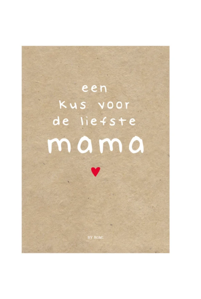 Grote Kaart - Een kus voor mama