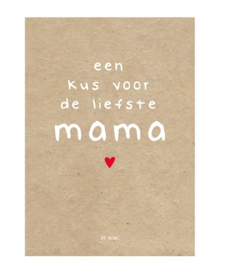 Grote Kaart - Een kus voor mama - Romi-1