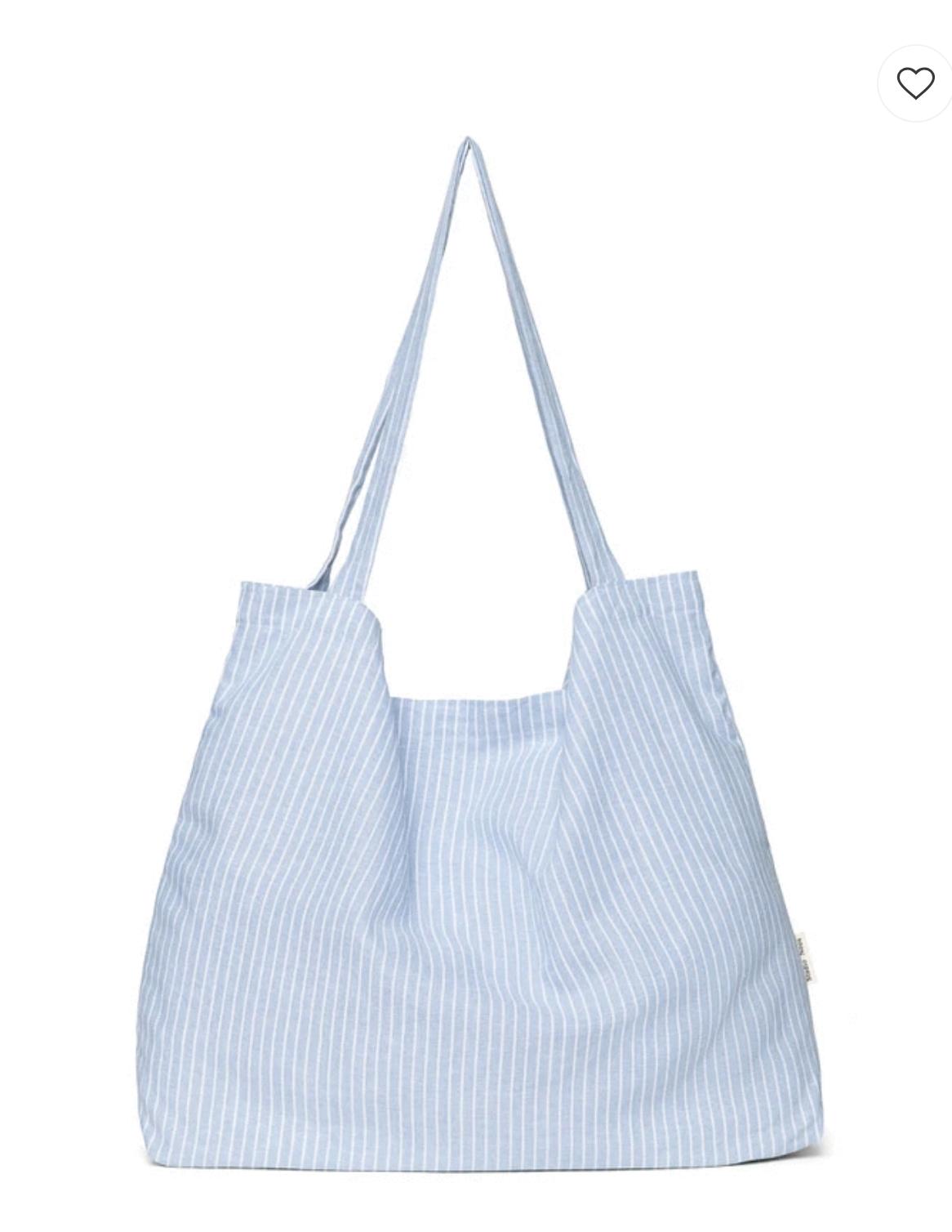 Blue striped linen mom-bag - Studio Noos-3