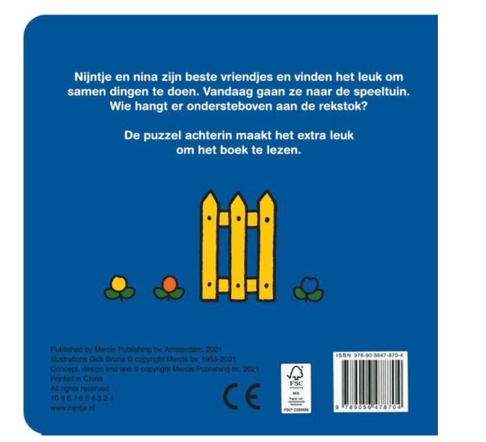 Boekje - Nijntje & Nina In De Speeltuin - Mercis-2