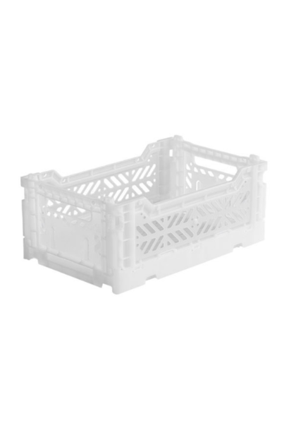 Folding Crate White - Small