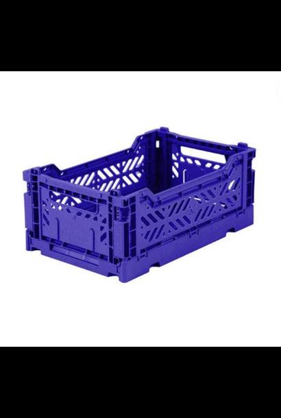 Folding Crate Cobalt Blue - Small