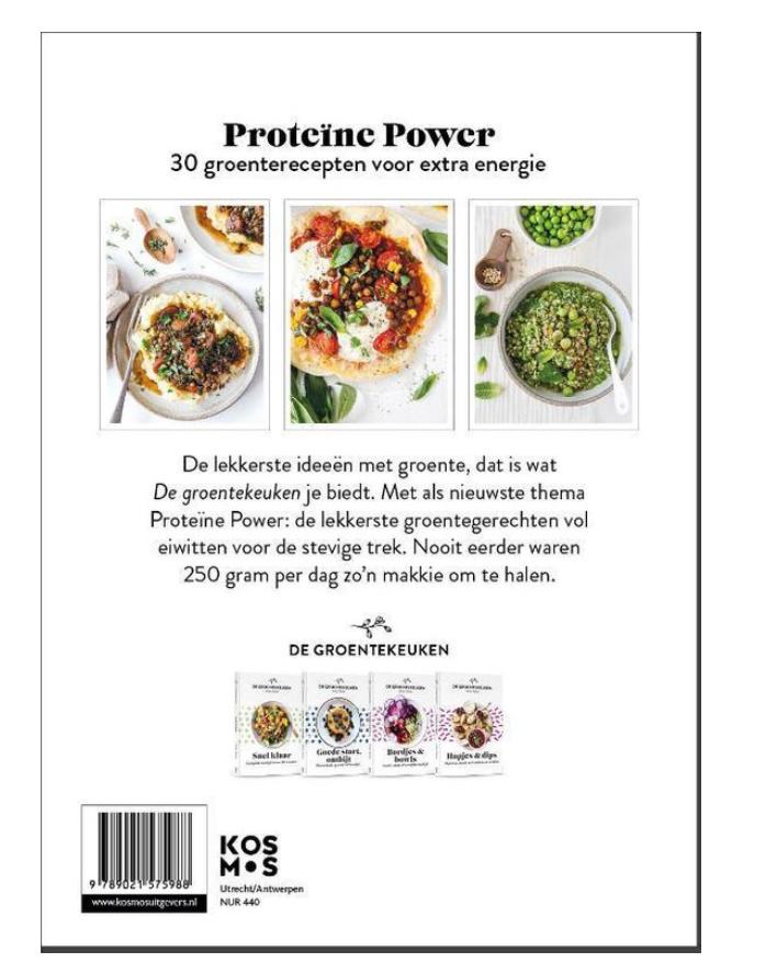 Boek - De Groentekeuken: Proteïne Power - Kosmos-2