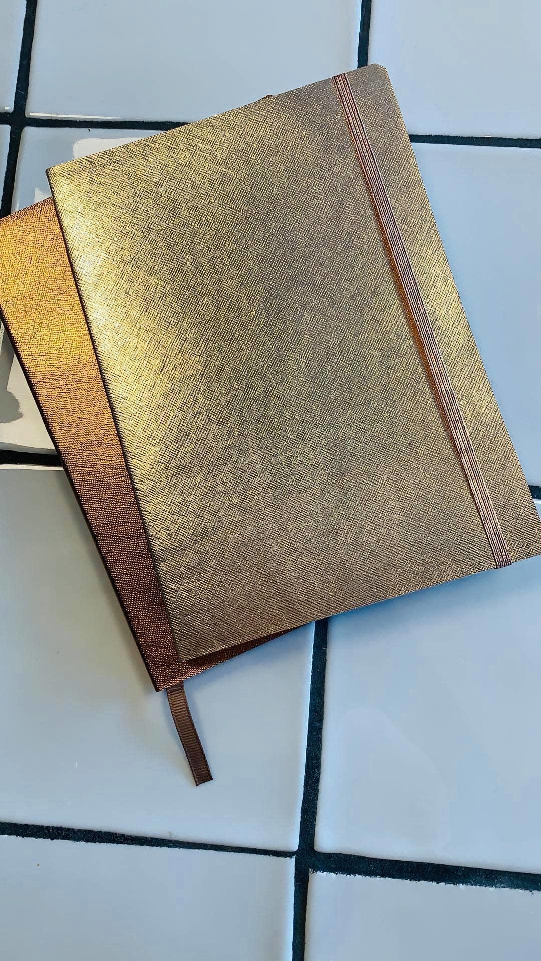 Notitieboekje A5 Rosé/Goud - PAPERMNT-1