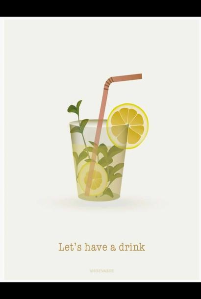 Wenskaart Let's have a drink