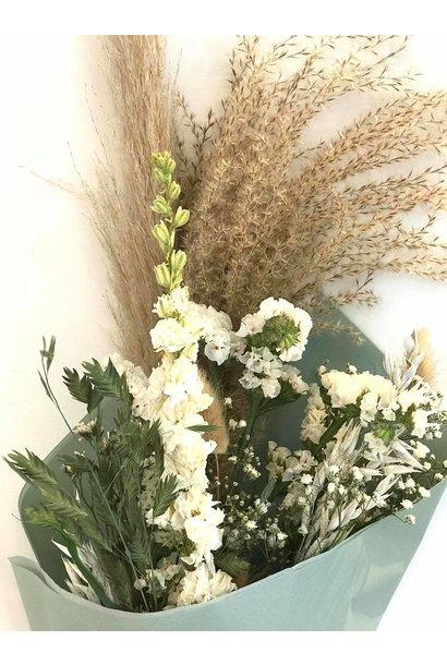 Droogboeket White flowers