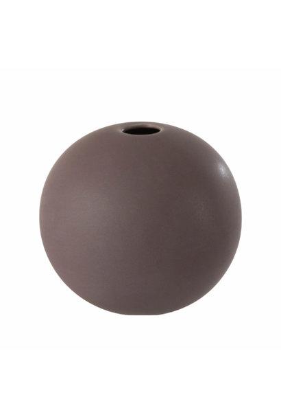 Vase ceramic aubergine Small