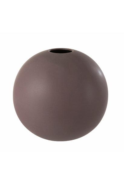 Vase ceramic aubergine Medium