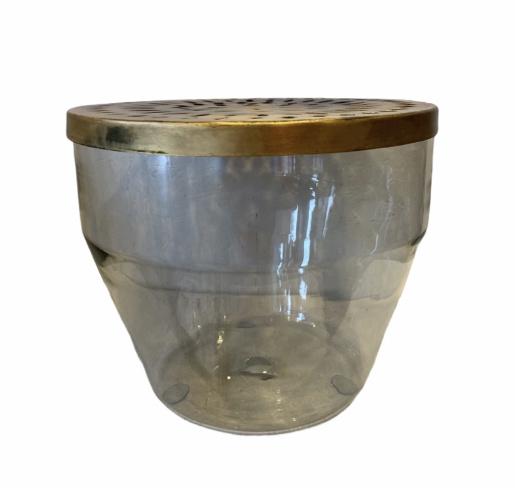 Glazen Vaas Met Metalen Deksel - Bloomingville-1