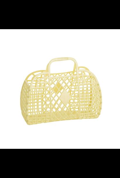 Retro Basket Geel Small