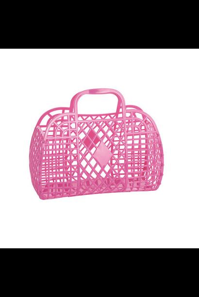 Retro Basket Felroze Small