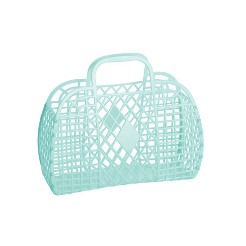 Retro Basket - Munt Small - Sun Jellies-1