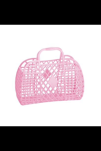 Retro Basket Lichtroze Small