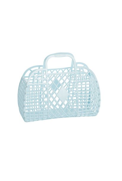 Retro Basket Lichtblauw Small