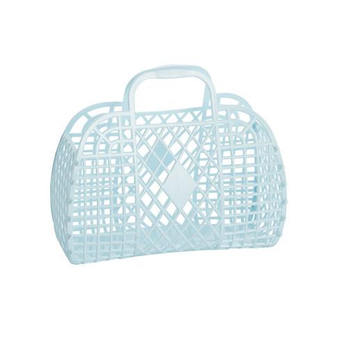 Retro Basket Lichtblauw Small - Sun Jellies-1