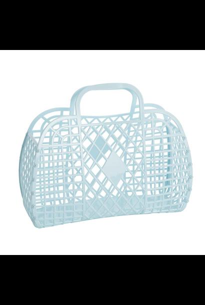 Retro Basket Lichtblauw Large