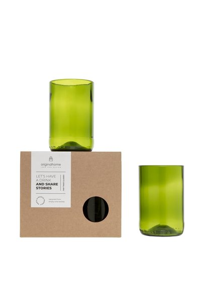 Set Glass Green M - Recycled