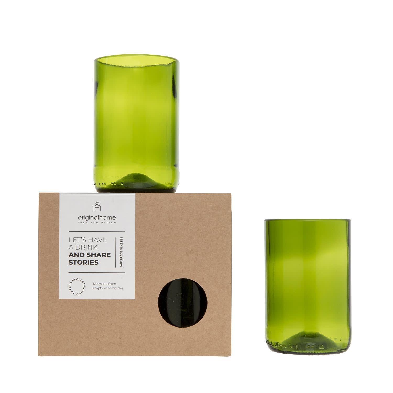 Set Glas Groen M - Gerecycleerd - Original Home-1
