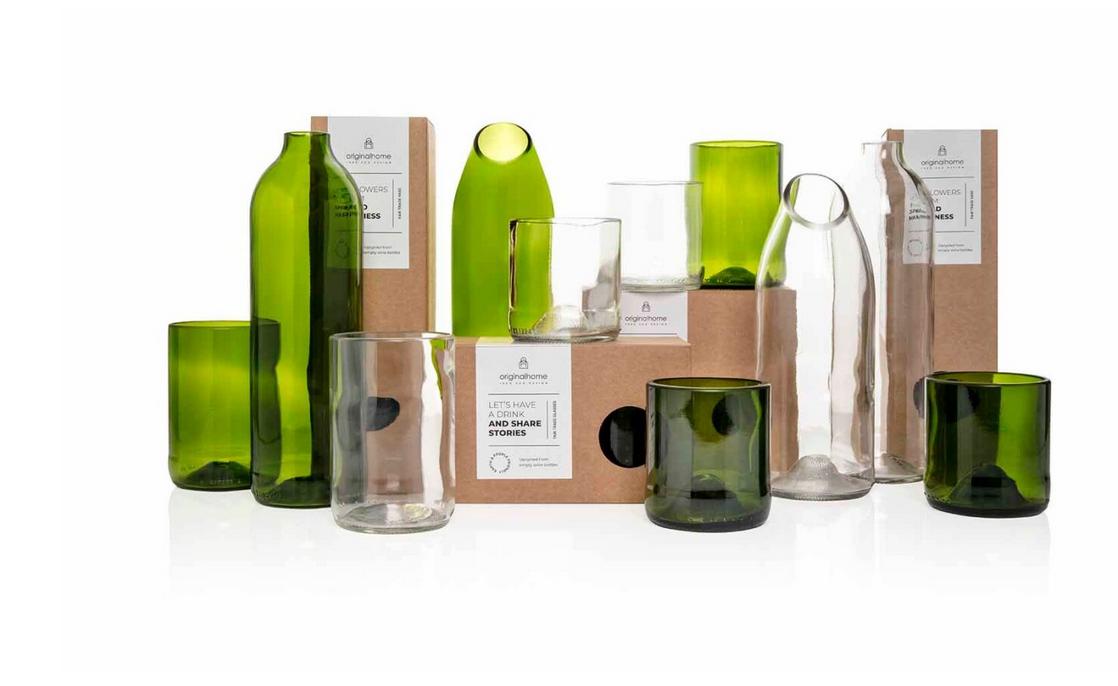Set Glas Groen M - Gerecycleerd - Original Home-3