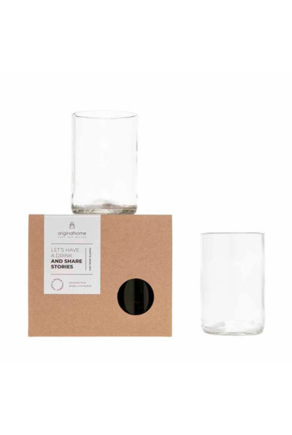 Set Glas Transparant M - Gerecycleerd