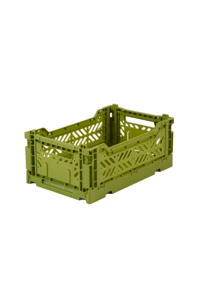 Folding Crate - Olive Green - Small