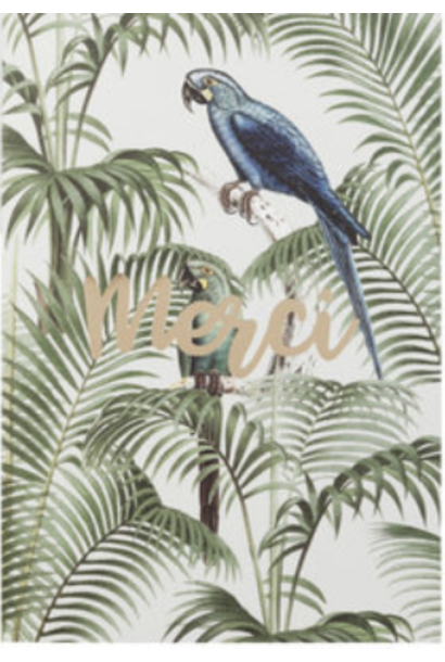 "Wenskaart ""Chat in the jungle"" - Merci"