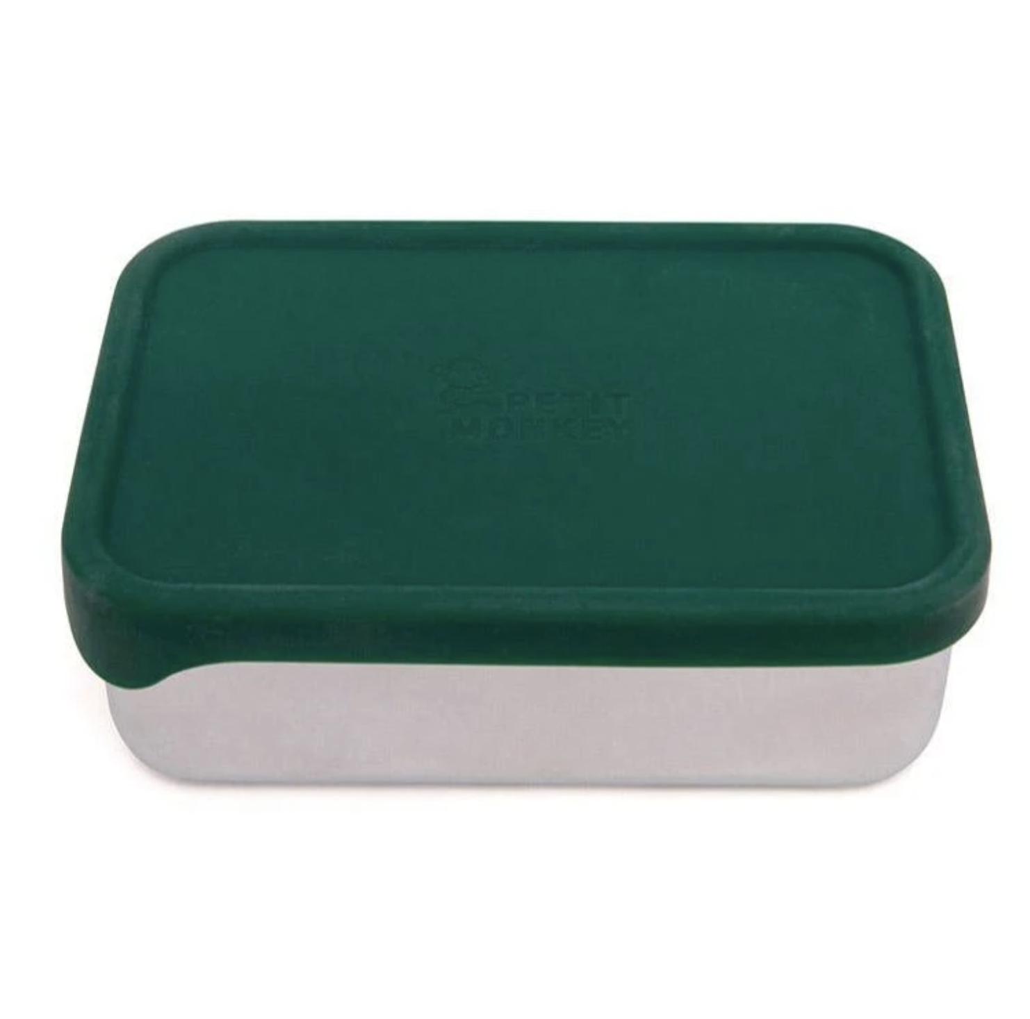 Lunchbox Riley Pine Green - Petit Monkey-1