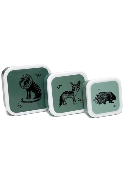 Snack Box Set Animals Sage