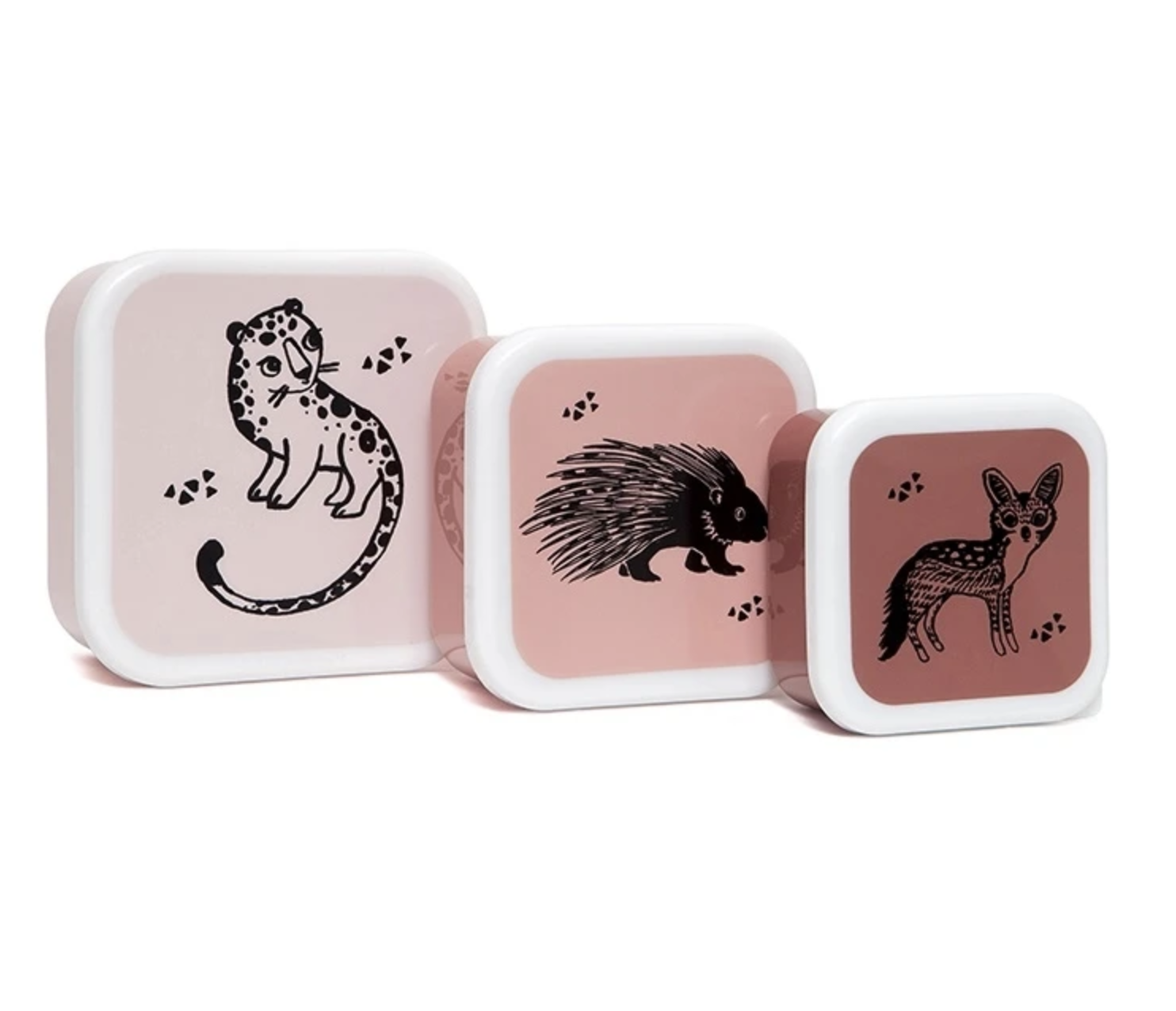 Snackbox Set Dieren Rose - Petit Monkey-1