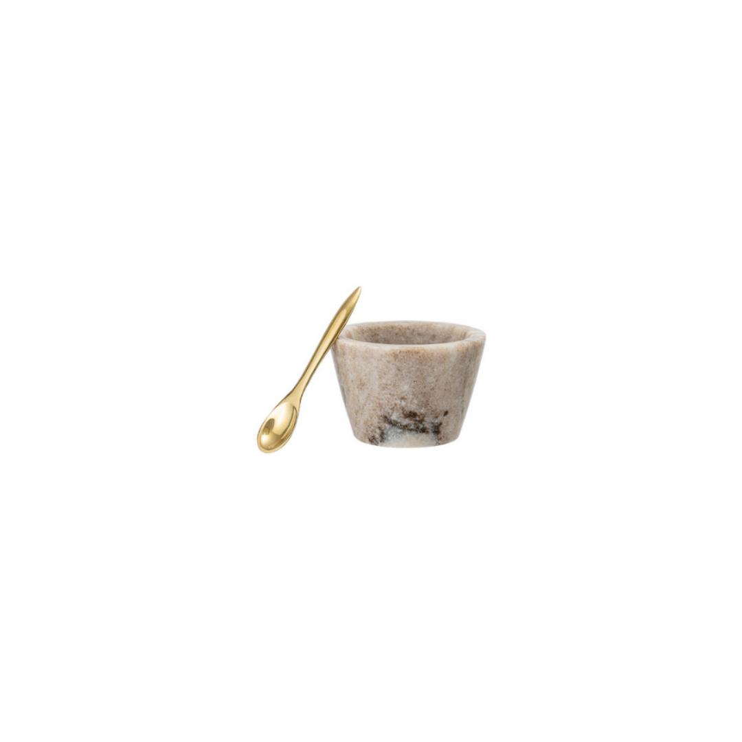 Marmeren Zoutvat Beige - Bloomingville-1