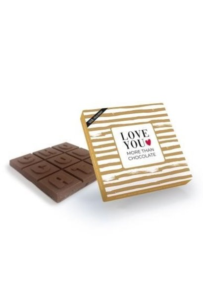 Melkchocolade 'Love You More Than Chocolate'