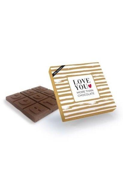 Milk Chocolate 'Love You More Than Chocolate'