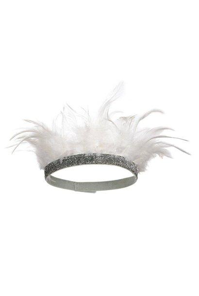 Feather crown white