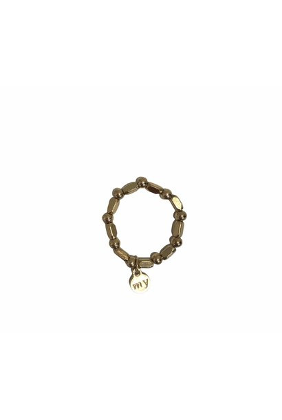 Ring Stretch Gold Pearls
