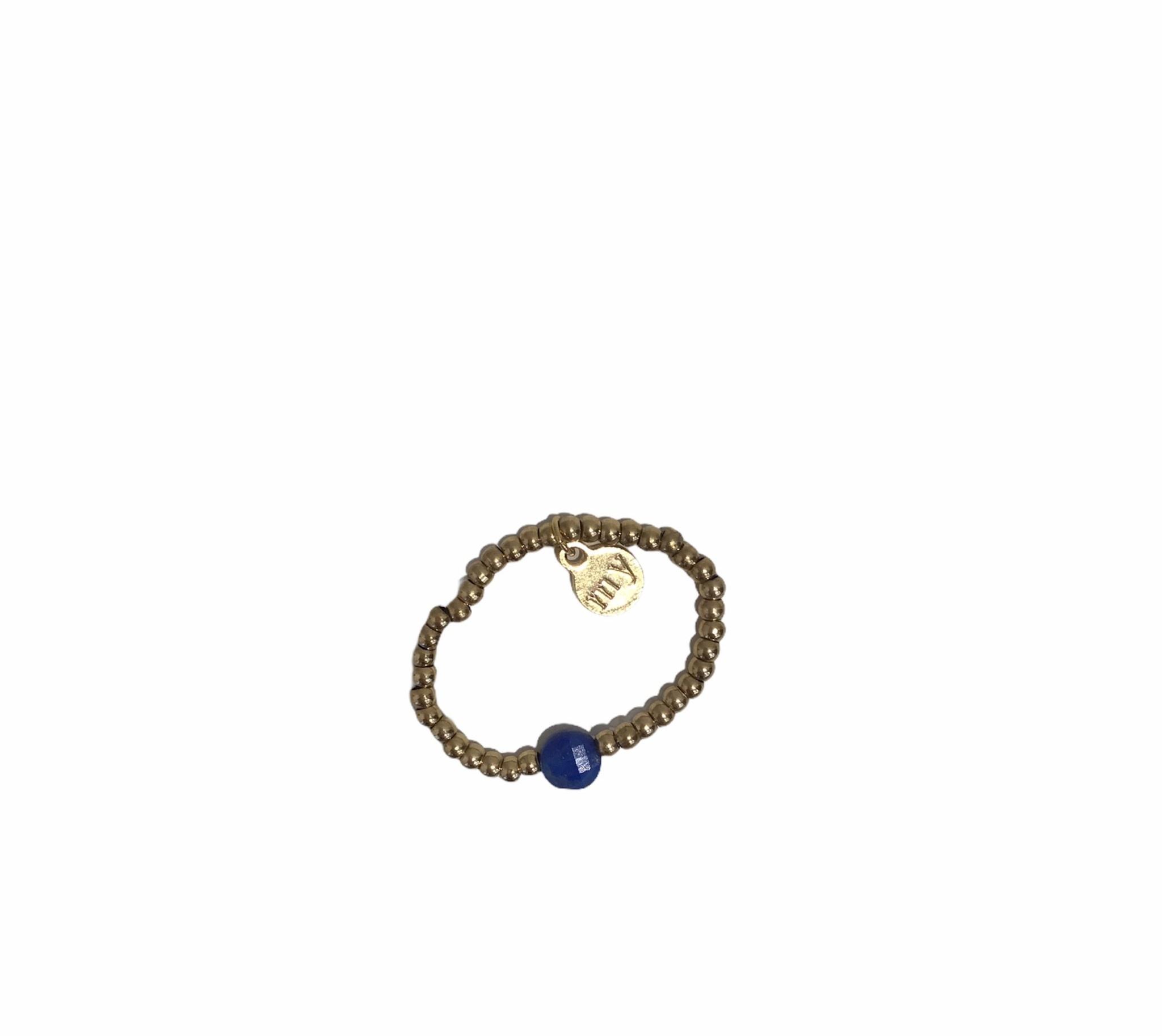 Ring Stretch Blauw - My Jewellery-1