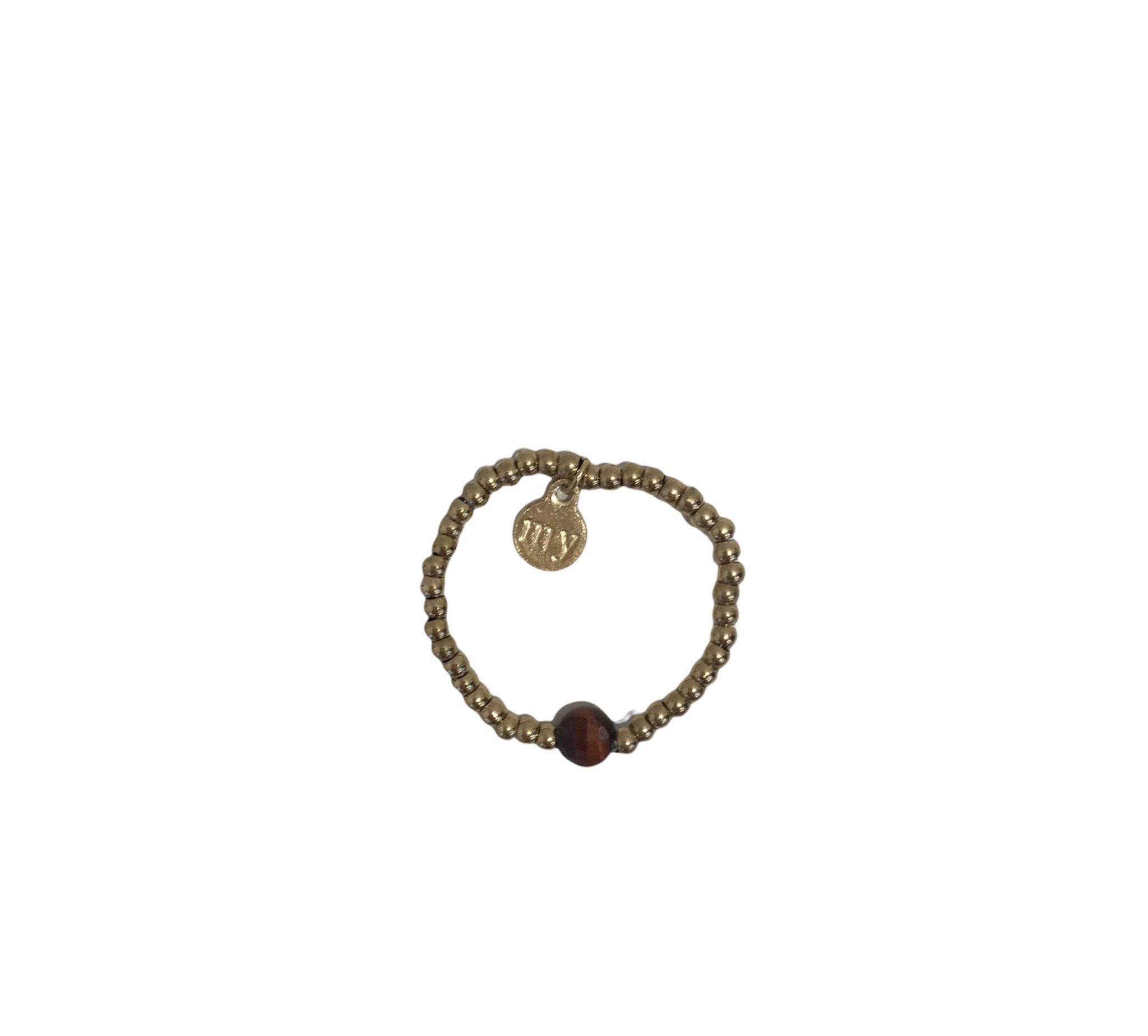 Ring Stretch Bruin - My Jewellery-1