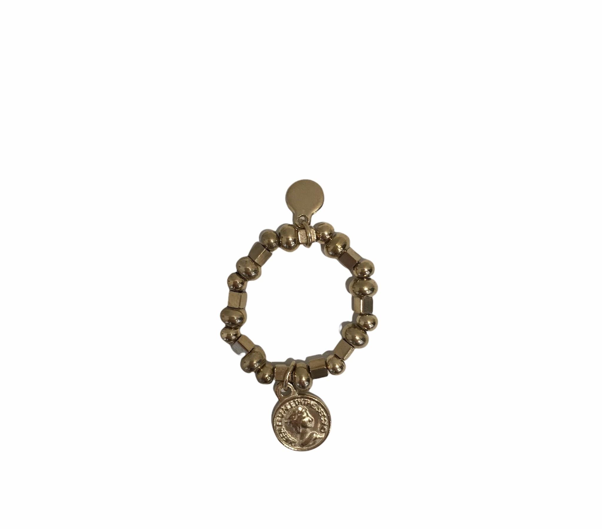 Ring Stretch Met Munt - My Jewellery-1