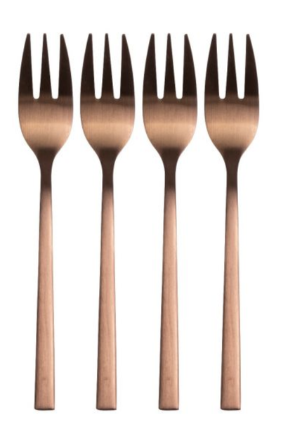 Forks Set Copper